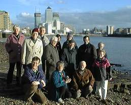 By the the River Thames  - A break in  the Feb 2001 CEL planning meeting